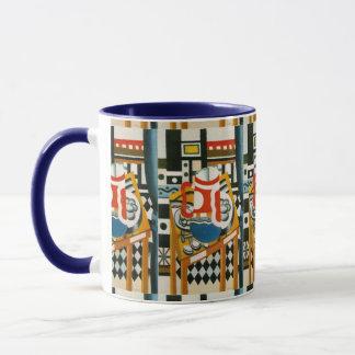 ビールのジョッキが付いているヴィンテージのフェルナンドLegerの静物画 マグカップ