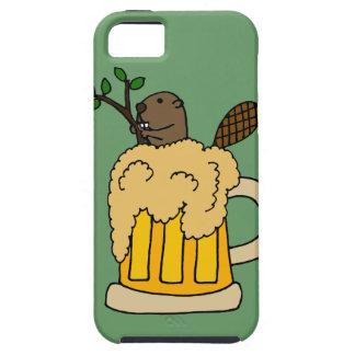 ビールのジョッキのおもしろいなビーバー iPhone SE/5/5s ケース
