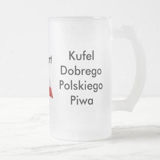 ビールのジョッキのポーランド人ビール フロストグラスビールジョッキ