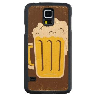 ビールのマグ CarvedメープルGalaxy S5スリムケース
