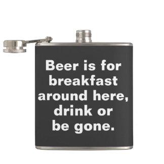 ビールはこの辺に朝食、飲み物のためまたはgonです フラスク