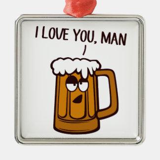 ビールはの人愛します メタルオーナメント