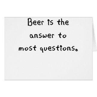 ビールはほとんどのquestions.pngへ答えです カード