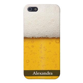 ビールはクローズアップ泡立ちます iPhone 5 COVER