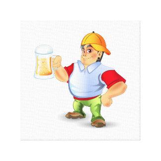 ビールは中枢神経刺激剤に記章を付けます キャンバスプリント