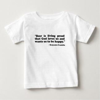 ビールは神が私達を愛すること証拠です ベビーTシャツ