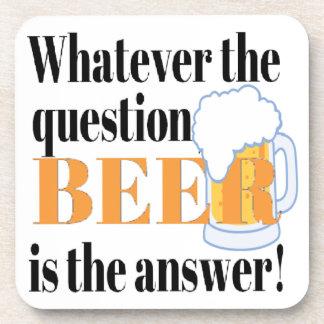 ビールは答えです コースター