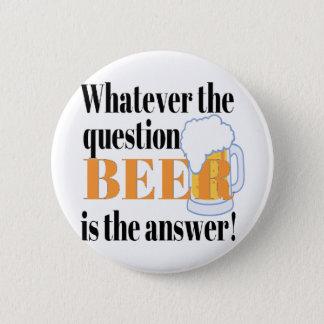 ビールは答えです 5.7CM 丸型バッジ