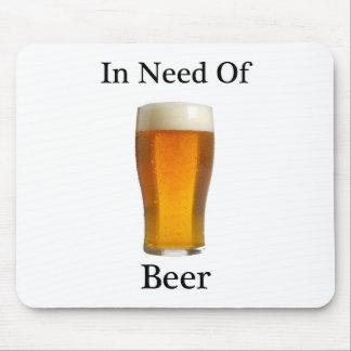 ビールを必要として マウスパッド