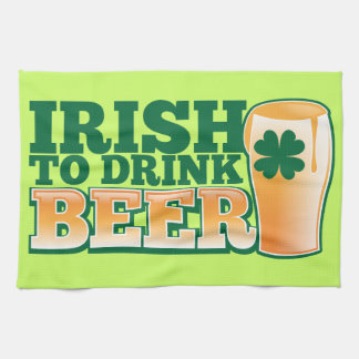 ビールを飲むアイルランド語! キッチンタオル