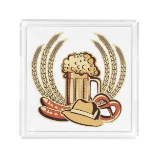 ビールオクトーバーフェストのグラフィック アクリルトレー