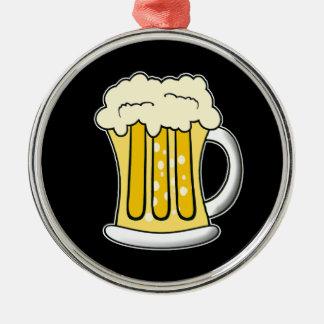 ビールオーナメント シルバーカラー丸型オーナメント