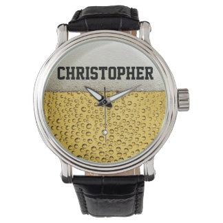 ビールガラスは個人化なります 腕時計