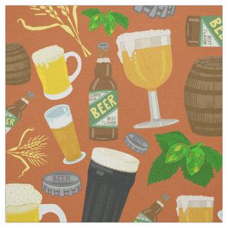 ビールガラスビンのホツプおよびオオムギパターンオレンジ ファブリック