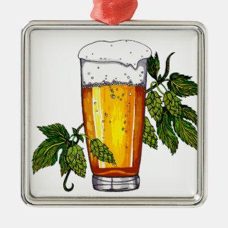 ビールガラス及びホツプ メタルオーナメント