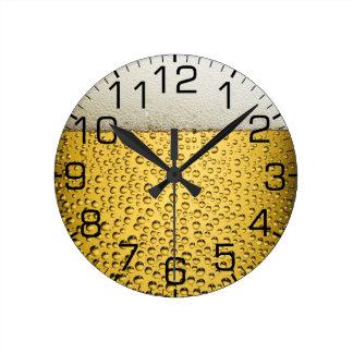 ビールガラス ラウンド壁時計