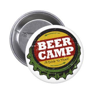 ビールキャンプボタン 5.7CM 丸型バッジ