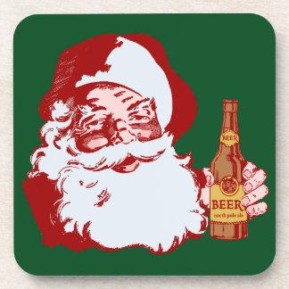 ビールクリスマスのレトロのサンタクロース コースター