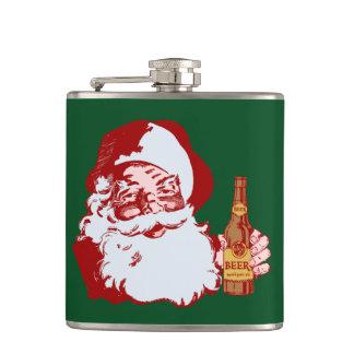ビールクリスマスのレトロのサンタクロース フラスク