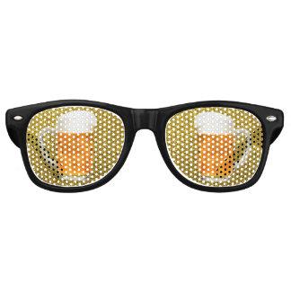 ビールゴーグルのパイントのマグの金ゴールドのグリッターのサングラス パーティサングラス