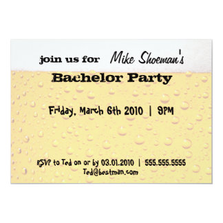 ビールバチュラーパーティの招待状 カード