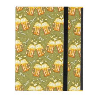 ビールパターンのガラス iPad ケース