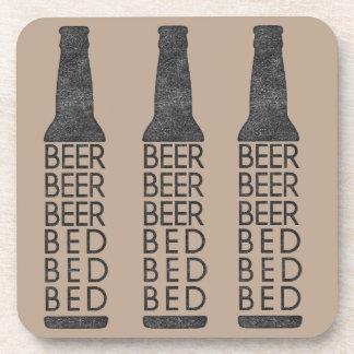 ビールビールビールベッドのベッドのベッドのコースター コースター