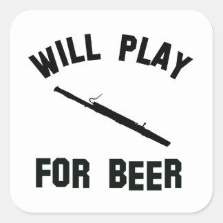 ビールベクトルデザインのためのバスーンを遊びます スクエアシール