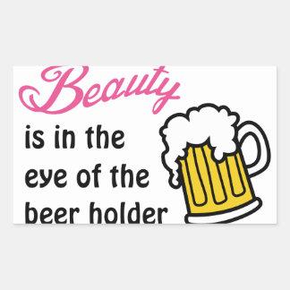 ビールホールダーの目 長方形シール