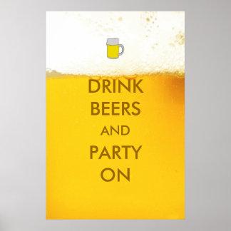 ビールポスターの飲み物のビールそしてパーティー ポスター