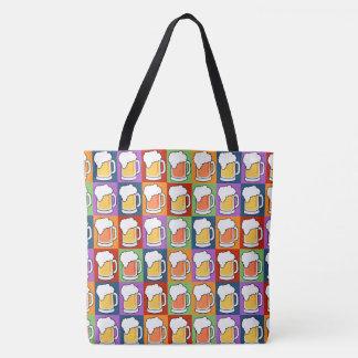 ビールポップアートのバッグ トートバッグ