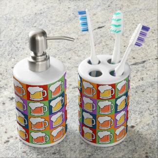 ビールポップアートの浴室セット バスセット