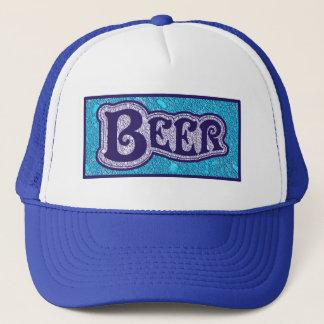 ビールロゴ-青い質の一見 キャップ