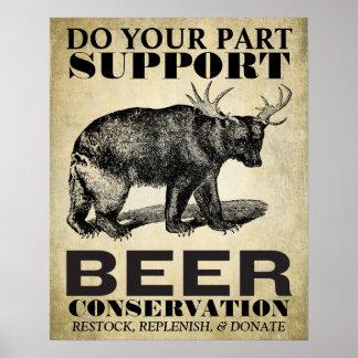 ビール保存ポスター ポスター