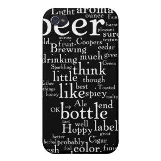 ビール単語の雲の愛のため iPhone 4/4Sケース