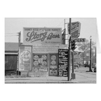 ビール及びアルコール飲料Market 1938年 カード