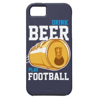 ビール及びフットボール iPhone SE/5/5s ケース