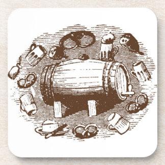 ビール及びプレッツェルのコースター コースター