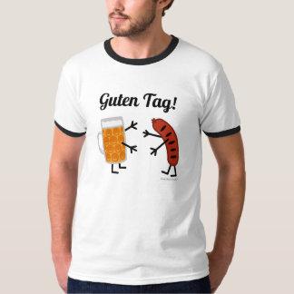 ビール及びBratwurst - Gutenのラベル! -おもしろいなグルメ Tシャツ