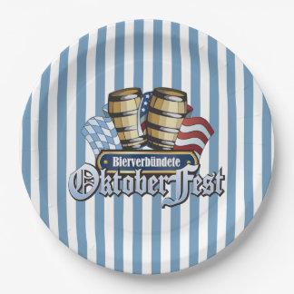 ビール同盟国のオクトーバーフェストのパーティーの紙皿 ペーパープレート