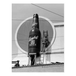 ビール広告掲示板1940年 ポストカード