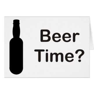ビール時間か。 カード