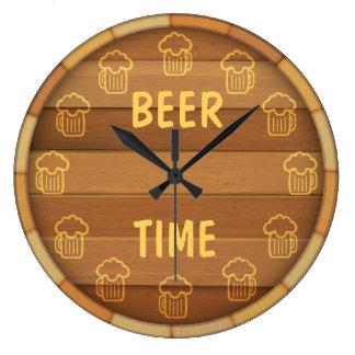 ビール時間 ラージ壁時計