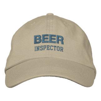 ビール検査官の帽子(単調な) 刺繍入りキャップ