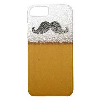ビール泡のおもしろいで黒い髭 iPhone 8/7ケース