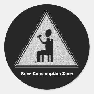 ビール消費の地帯 ラウンドシール