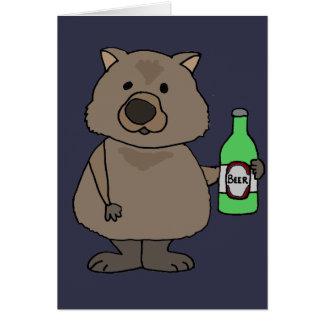 ビール漫画のWombatのおもしろいな飲むボトル カード