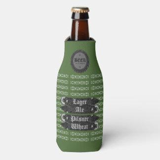 ビール瓶の帽子か緑栓抜きまたは灰色または白 ボトルクーラー