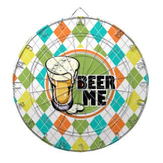 ビール私!  カラフルでアーガイル柄のなパターン ダーツボード