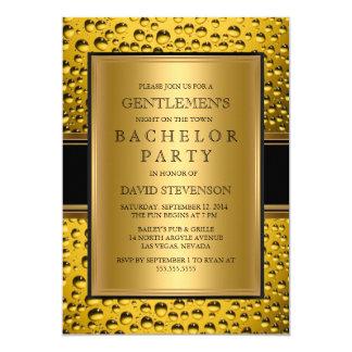 ビール紳士のバチュラーパーティ人の夜 12.7 X 17.8 インビテーションカード